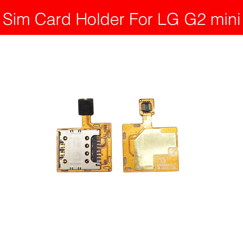 Memory & SIM Card Tray Holder For LG G2 Mini D610 D618 Sim Card Reader Slot Socket Adapter Phone Repair Replacement Parts