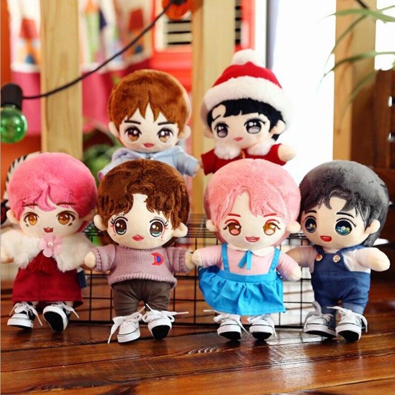 BTS kpop changeable cute star plush doll toy BT21 doll cartoon anime children birthday gift goddess cute baby