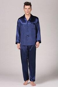 Image 5 - Ensemble pyjama pour homme, chemise de nuit confortable et doux, manches longues et hauts, vêtement pour la maison, collection ensemble de vêtements de nuit