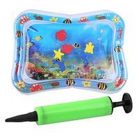 Sommer Wasser Matte Baby Aufblasbare Klopfte Pad Infant Wasser für Baby Aktivität Eis Matte Kissen Spielzeug mit Inflator