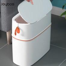 Joybos étanche poubelle seau poubelle avec couvercle portable automatique emballage salon salle de bains cuisine poubelle boîte de rangement