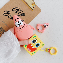 Cartoon Anime SpongeBob Soft Silicone Earphone Case For Apple Airpods Wireless Bluetooth Headset Cover New Air pod 2 Acessorios