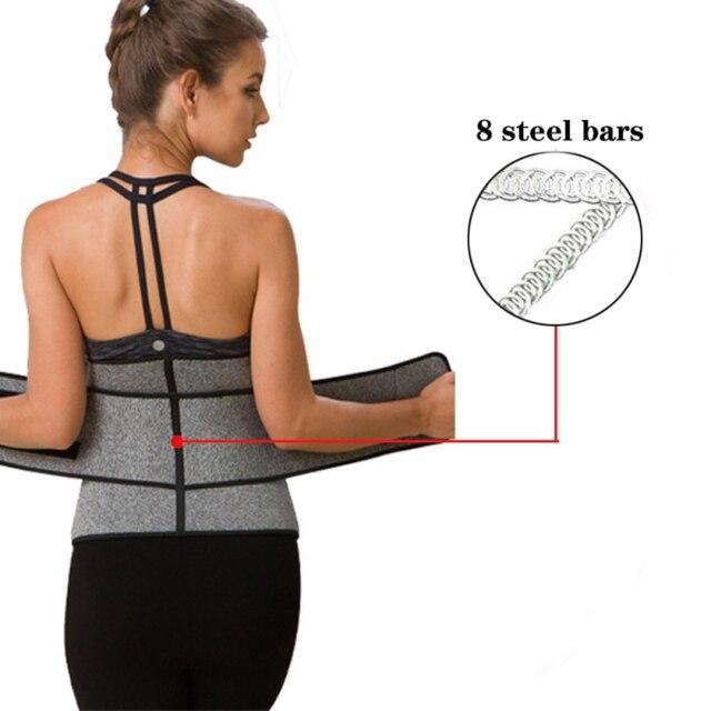 Waist Trainer Belt Reduce Belly Body Slimming Shapers 9 Cincher Corset Sweat abdomen fitness double layer pressure belt 3