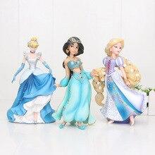 プリンセスもつれたラプンツェルジャスミンシンデレラpvcアクションフィギュア玩具ガールおもちゃ