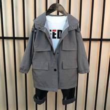 2019 Nieuwe Lente Herfst Mode Kinderen Jongens Hooded Windbreaker Overoat Kids Jongens Uitloper Jas Tiener Casual Cool Geul F120(China)