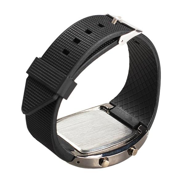 band digital Men Military LED Backlight Digital Quartz Wristwatch Sports Watch Rubber Band Adjustable Brightness C44 (3)