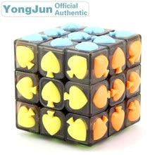 YongJun Spade Symbol 3x3x3 Magic Cube YJ 3x3 Professional Neo Speed Puzzle Antistress Educational Toys For Children yongjun diamond symbol 3x3x3 magic cube yj 3x3 professional neo speed puzzle antistress fidget educational toys for children
