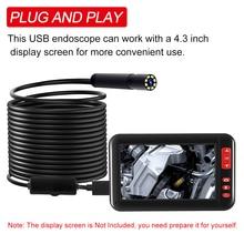 Lens Inspection-Camera Usb Endoscope Leds Waterproof IP67 8mm 8pcs Built-In