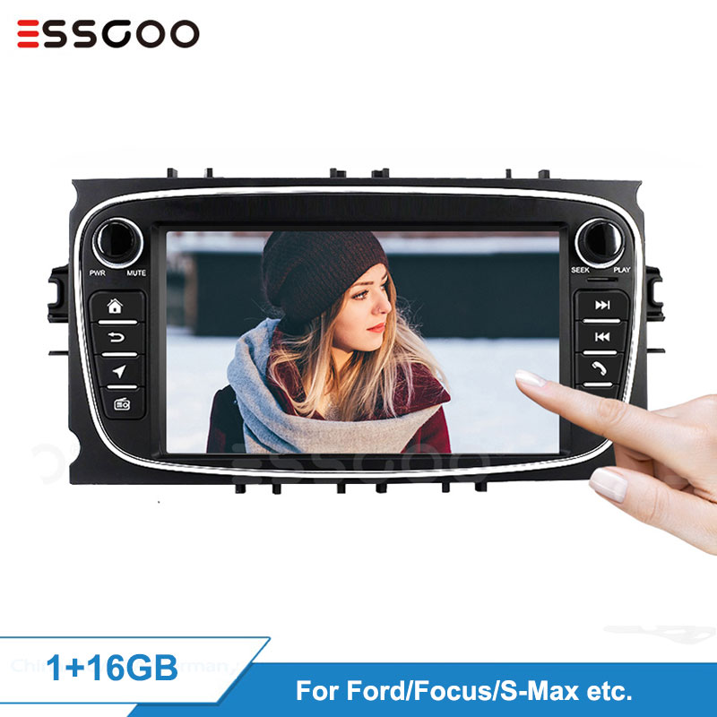 Essgoo 7'' Android Car Radios for <font><b>Ford</b></font> <font><b>Focus</b></font> <font><b>MK2</b></font> Mondeo C-MAX S-MAX Car <font><b>Multimedia</b></font> Player GPS Navigation Audio WiFi Auto Video image