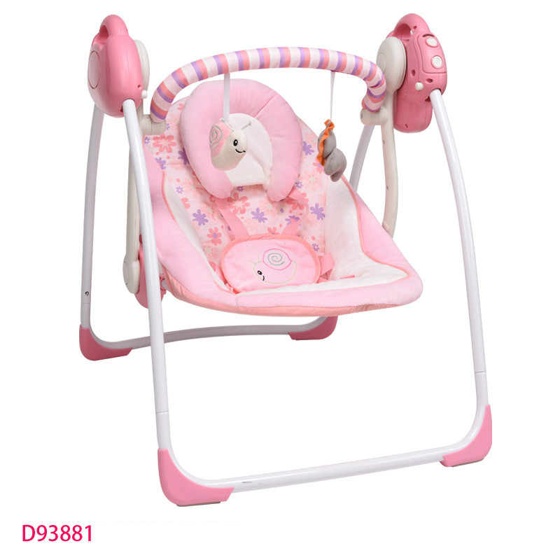 Free ShippingPortable Folding Baby Electric Rocking Chair Swing Music Electric Multi-function Cradle Rocking Chair Baby Bouncer
