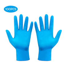 100Pcs Disposable Nitrile Glove Powder Free Examination Gloves Thickened Protective Gloves for Home Food  Laboratory USE
