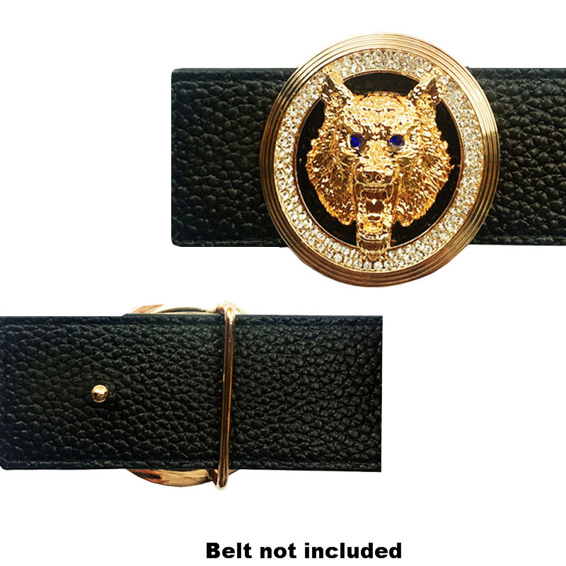 Luxury Vintage Wolf Icon Buckle For Belt Metal Accessories For Men's Belts