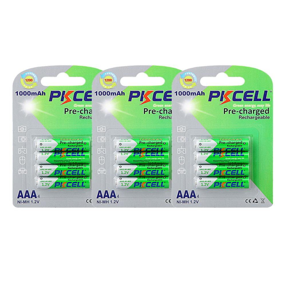 12pcs  1.2v Aaa 1000mah Nimh Battery Rechargeable Low Self Discharge Batteries AAA Batteries Up To1200cicle Times