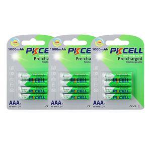 Image 1 - Baterias recarregáveis aaa da descarga do auto das baterias até to1200ciclo baterias recarregáveis do aaa da bateria de 12 pces pkcell 1.2v aaa 1000mah ni mh