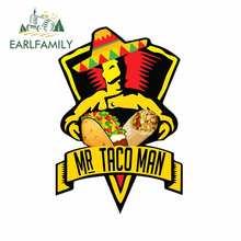 EARLFAMILY 13cm x 8.8cm Mr için Taco adam motosiklet araba tampon çıkartmaları araba Styling çıkartması moda gövde dekorasyon kişilik