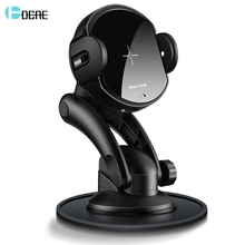 DCAE 15W Wireless Car Charger Mount USB C Automatic 10W Qi Fast Charging Holder for iPhone XS XR X 8 11 Samsung S10 S9 Note 10 9