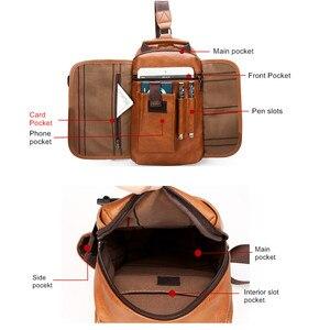 Image 4 - Celinv Koilm iPad waterproof mens travel chest bag, chest packaging, new multi function crossbody bag hanging bag, mens bag