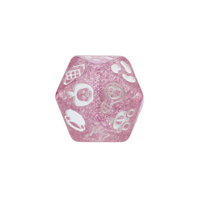 7Pcs party story poly dice time dice polyhedron multi-faceted acrylic dice set dnd new dados poliedricos  dadi da gioco 30A20 (4)