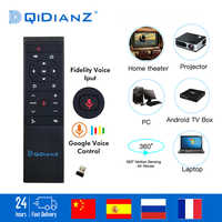 MT12 Google Voice Assistant Air Mouse Gyro Sensing 2.4G Voice Remote Control For Android TV Box H96 X96 MAX HK1 TX6 PK G10 Q5