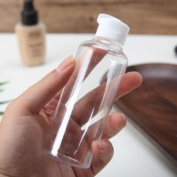 Flacon Vide Plastique 60ml/75ml/80ml/100ml/120ml botellas de maquillaje loción Crema para tapa para esencia líquida Flip plástico vacío P1J4