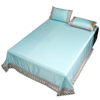 Bamboo Fiber Quality Cool Sheet Set And Pillowcase-Absorb Heat,Fast Drying,Comfort,Triple Cold Effect