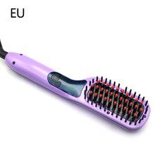 New Ceramic Electric Hair Straightening Brush LCD Comb Irons