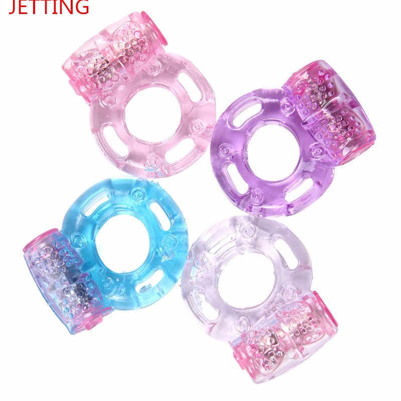 Mini Vibratoren Ringe Doppel Cockring Verzögerung Vorzeitige Ejakulation Penis Ball Loop Lock Sex Spielzeug Produkt Für Männer