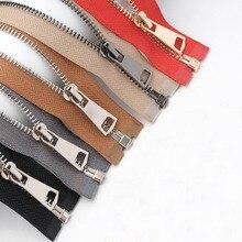 5# Meetee 85cm Metal Zipper Open End Zip Jacket Closure Garment Sewing Zippers Gold Silver Black Teeth for Clothing Accessories