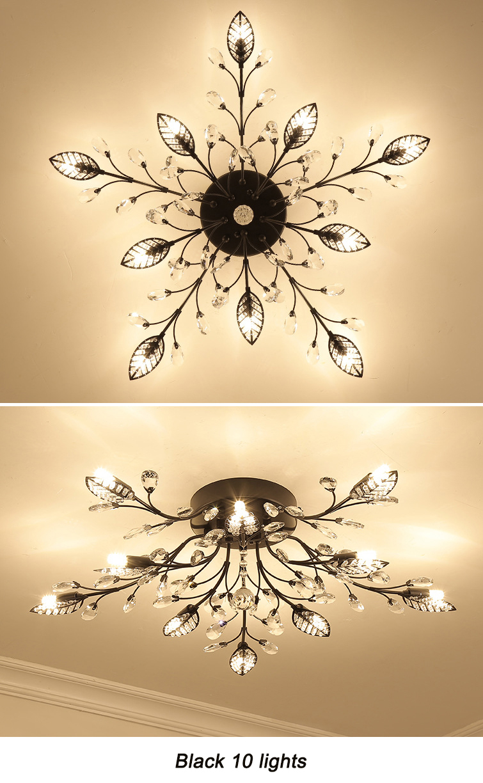 H151f610bcc4542a89ca324fab13ea42em Modern ceiling light for living room led Crystal ceiling lamp bedroom crystal lamps dining gold loft lighting Crystal Fixtures