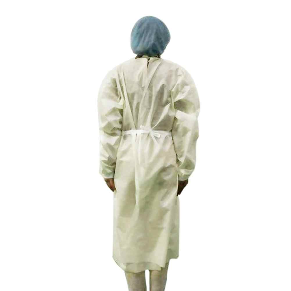 10pcs Disposable Protection Gown Home Outdoor Full Body Protective Isolation Clothing Labor Insurance Safety Clothing