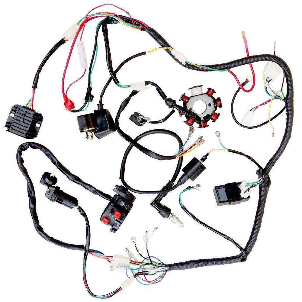 Arnés de cableado eléctrico de alambre telar CDI del estator del Kit para ATV QUAD 150CC 200CC 250CC
