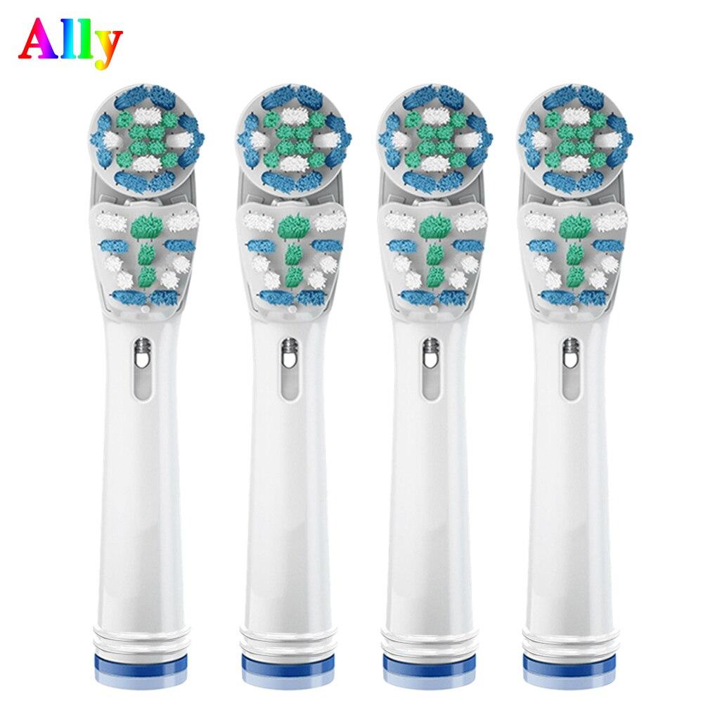 Сменные насадки для зубной щетки для Oral B двойного Чистота электрические Зубная щётка головки Pro 7000 1000 8000 9000 1500 5000 жизненную силу