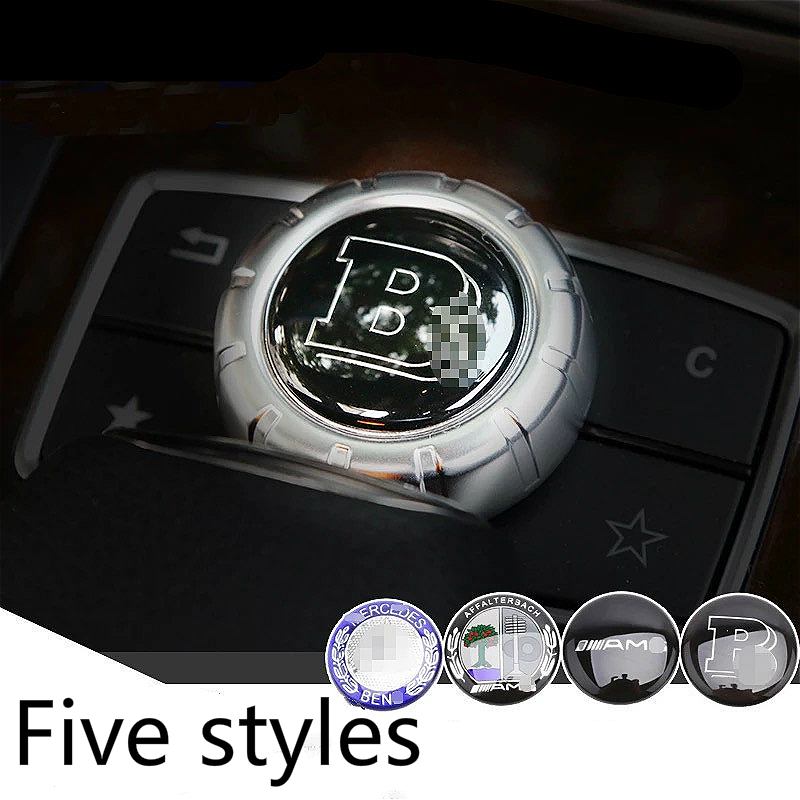 1 pcs 29mm Car Center Console Panel Knob Cover Control Button LOGO Dedicated Stickers Accessories For Mercedes Car Accessories|Automotive Interior Stickers| |  - title=
