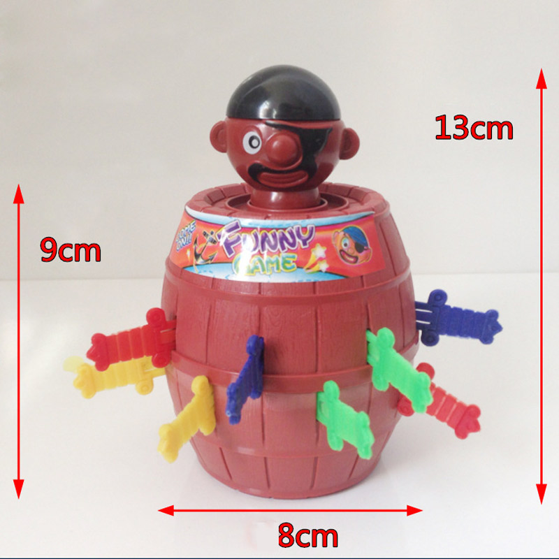 Mini Lucky Pirate Bucket with 12 swords Joke gadgets party Travel game for kids Children adult Family Halloween toy game