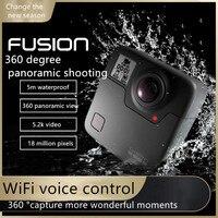 Fusión GoPro-Cámara de movimiento panorámica de 360 grados, vídeo inteligente de alta definición, pequeña, impermeable