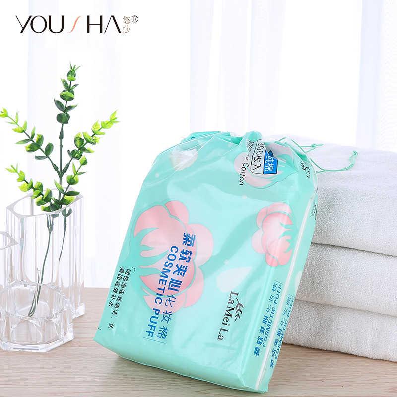 YOUSHA 300 個化粧綿ワイプネイルポリッシュリムーバーワイプ有機フェイシャルコットンパッド爪ナプキンメイクアップリムーバー組織の自然