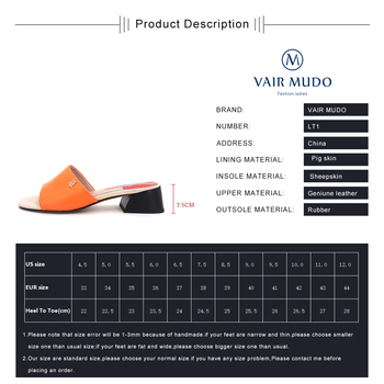 VAIR MUDO 2020 Fashion Summer Slippers New Shoes leather wear low heel fashion wild open toe slippers ladies outdoor sandals LT2 5