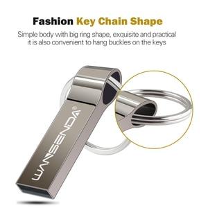 Image 2 - Pen drive wansenda, usb flash drive metal 4gb 8gb 16gb 32gb 64gb bastão flash drive com chaveiro