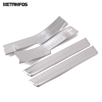 For Volvo XC60 XC 60 2008-2012 2013 2014 Inner Door Sill Strip Scuff Guard Plate Molding Trim Sticker Accessories Car Styling image