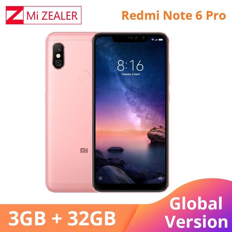 """In Voorraden Global Versie Xiaomi Redmi Note 6 Pro 3GB 32GB Note6 Pro Snapdragon S636 Mobiele Telefoon 6.26 """"19:9 Full Screen 4000mAh-in Mobiele Telefoons van Mobiele telefoons & telecommunicatie op AliExpress - 11.11_Dubbel 11Vrijgezellendag 1"""