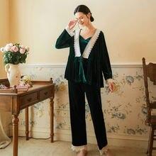 Roseheart зимний зеленый Женский Пижамный костюм для сна пижамный
