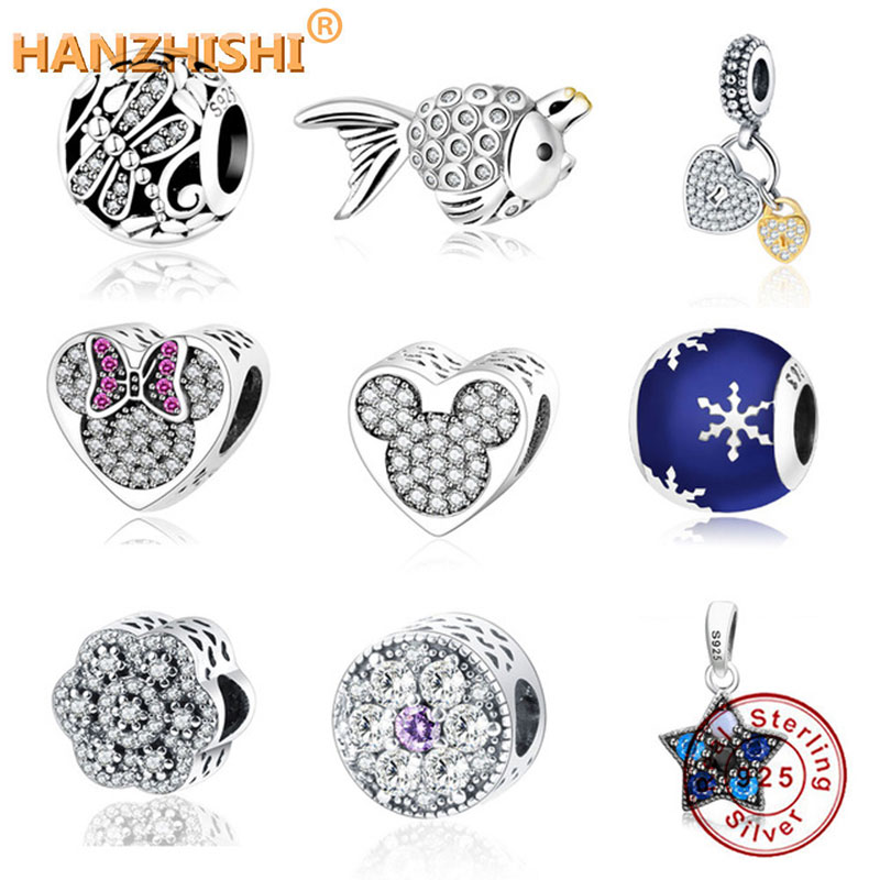 Fit Original Pandora Charms Bracelet 925 Sterling Silver Beads Dragonfly Meadow Openwork Charms For Women DIY Jewelry Making(China)