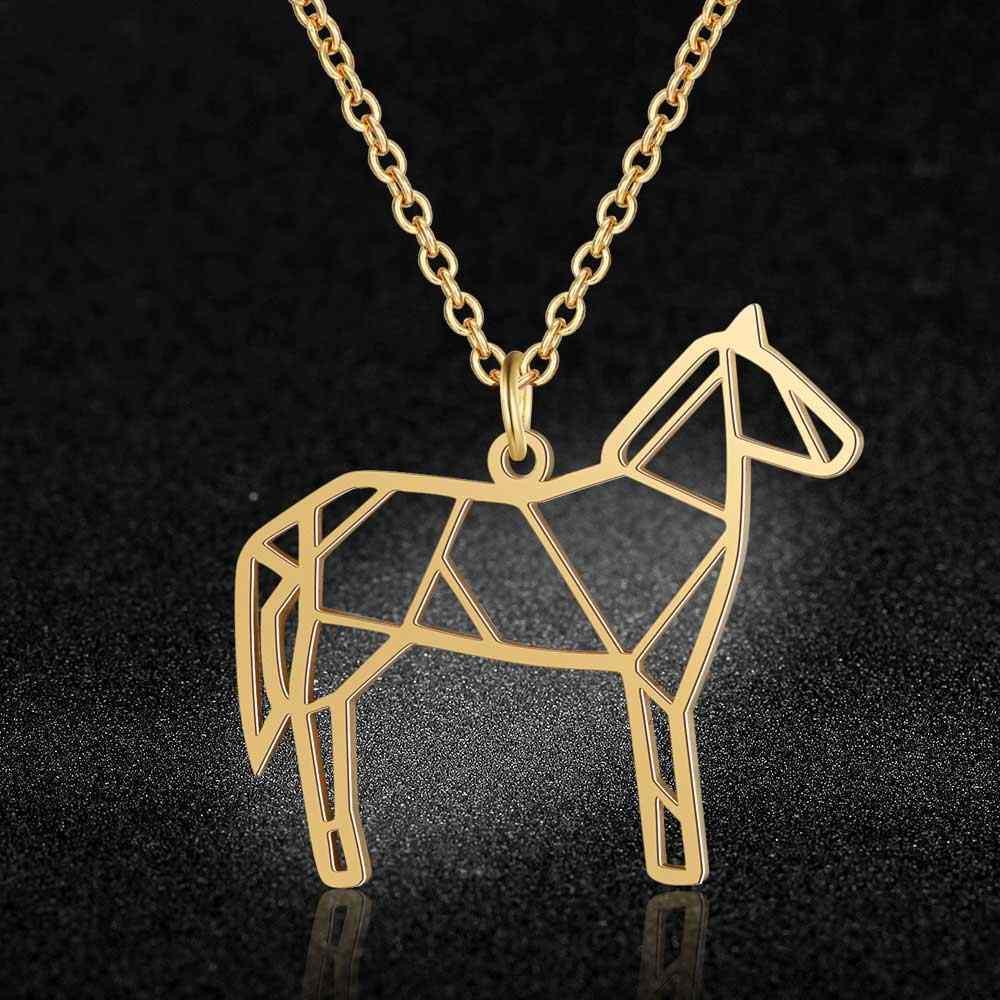 Siêu Chất Lượng Chuồn Chuồn Vòng Cổ 100% Thép Không Gỉ Kỳ Lân Ngựa Mặt Dây Chuyền Vòng Cổ Cho Nữ Con Sói Cái Ong Trang Sức Thời Trang