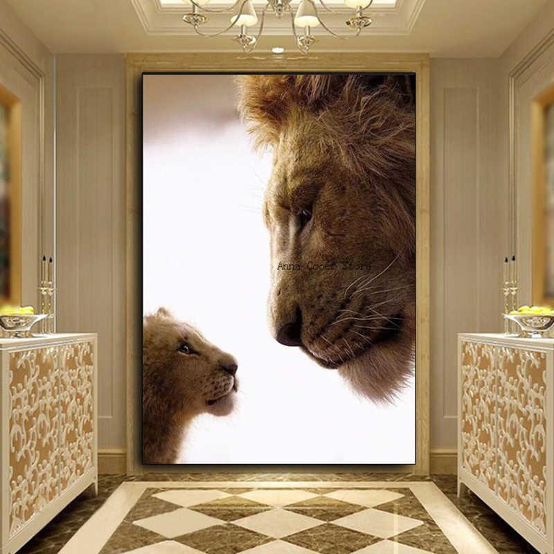 Neue diamant malerei voll platz/runde diamant 5D lion king diamant malerei stickerei kreuz stich kristall mosaik foto wand