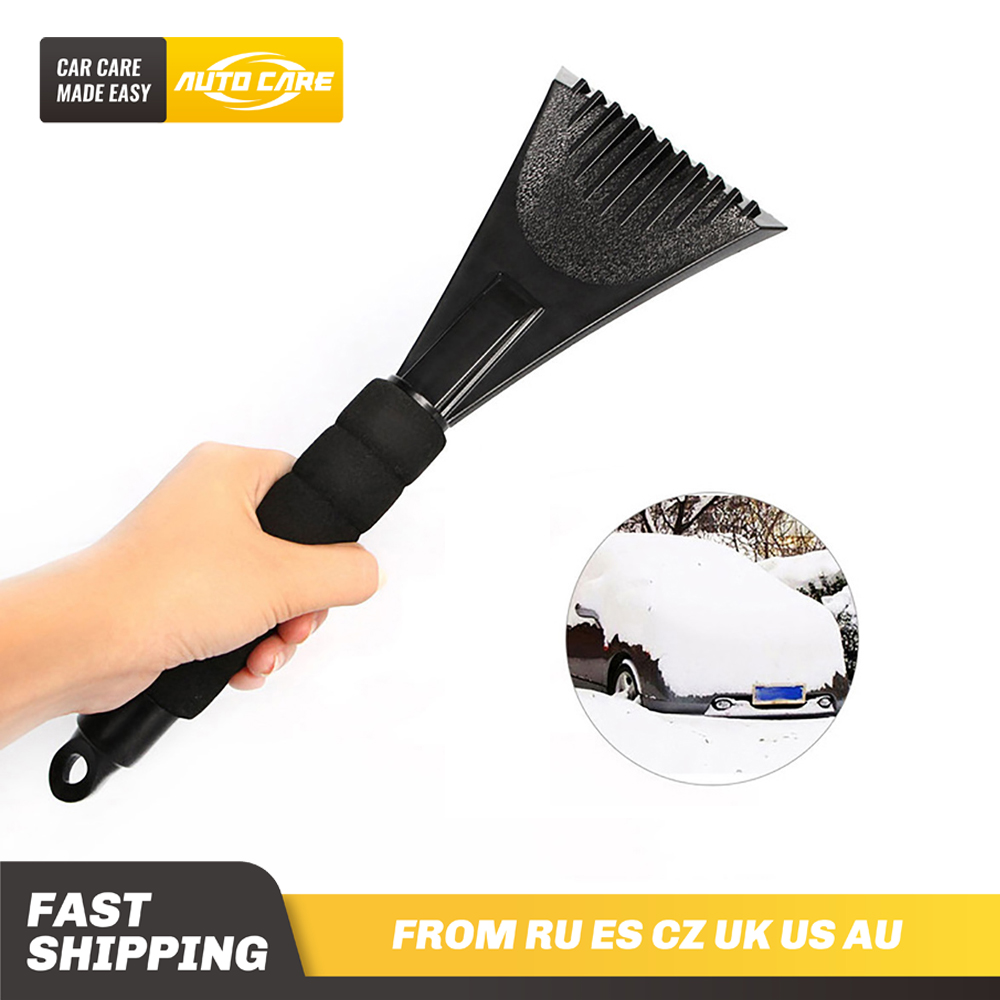 EVA foam handle Ice Scraper remove snow in Winter for Auto Car Vehicle Window Mirror Glass NO Scratch image