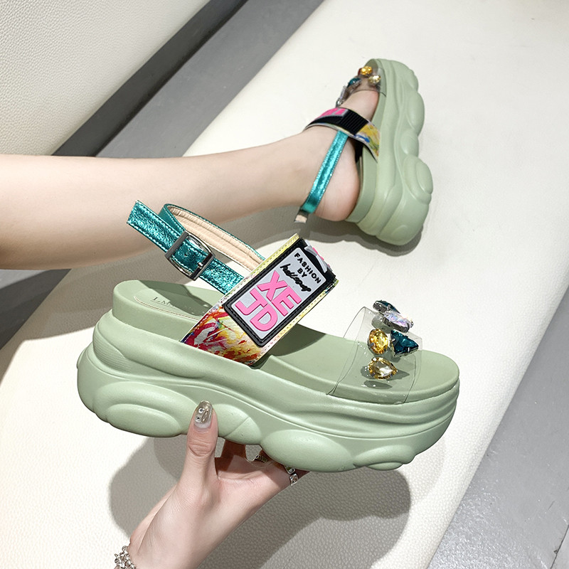 Women Sandals Shoes Platform Casual Sneakers In Women's Vulcanize Shoes Fashion Mixed Colors Summer Woman's Shoes Cool Shoes New