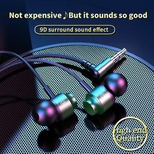 Металлические наушники-вкладыши, проводные наушники, магнитные наушники с микрофоном, телефонные наушники с шумоподавлением, наушники-вкладыши с басами, стереонаушники