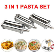 Mixer Pasta-Sheet-Roller Kitchenaid-Stand Spaghetti-Cutter Prep-Slicer-Set for 3-In-1