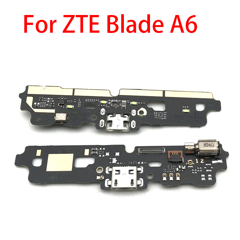 USB Charging Port Charger Board Flex Cable For ZTE Blade A6 A6 Lite Dock Plug Connector With Microphone