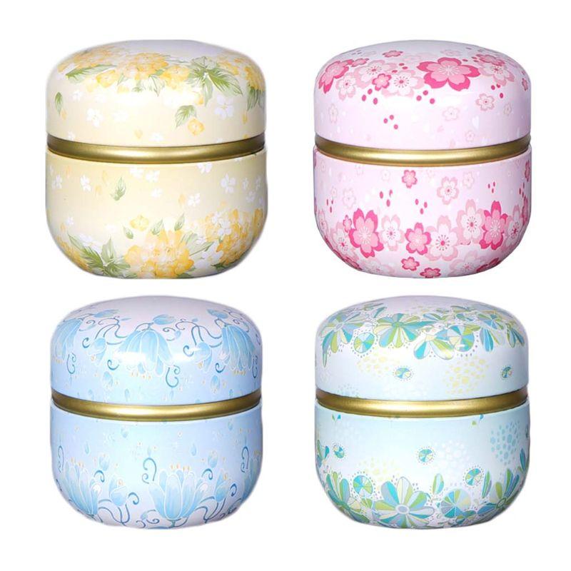 Mini Tin Tea Coffee Candy Storage Box Round Case Wedding Party Favor Container Tea Caddy Tea Supplies